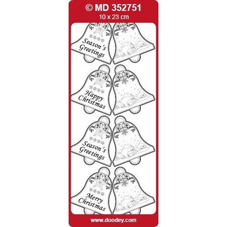 Sticker prægede Ziersticker, klokker Labels