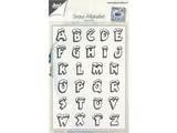 Stempel / Stamp: Transparent Transparent Stempel: Buchstaben mit Schnee