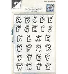 Stempel / Stamp: Transparent timbro trasparente: lettera con la neve