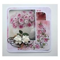 Transparante Postzegels: rozen