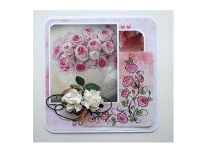 Stempel / Stamp: Transparent Gennemsigtige Frimærker: roser