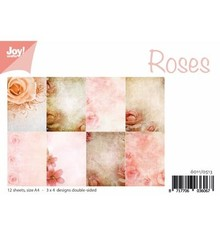 DESIGNER BLÖCKE  / DESIGNER PAPER Papir blok A4, Rose Design