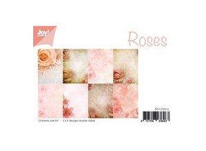 DESIGNER BLÖCKE  / DESIGNER PAPER Papel A4 bloque, diseño de Rose