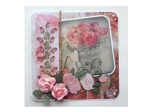 DESIGNER BLÖCKE  / DESIGNER PAPER Paper block A4, Rose Design