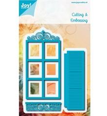 Joy!Crafts und JM Creation Stampaggio e goffratura stencil: frame / window