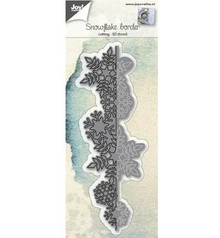 Joy!Crafts und JM Creation Punching and embossing templates: 3D border snow crystals