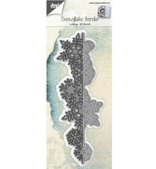 Joy!Crafts und JM Creation Punzonado y estampado en relieve plantillas: cristales de nieve frontera 3D