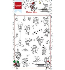 Stempel / Stamp: Transparent timbro trasparente: Inverno Mause