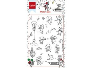 Stempel / Stamp: Transparent Transparent stamp: Winter Mause
