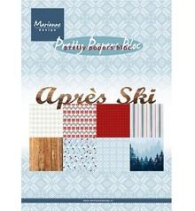 DESIGNER BLÖCKE  / DESIGNER PAPER Papir blok A5, afterskiing