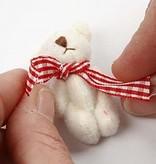 Embellishments / Verzierungen 6 Deco Mini oso de peluche