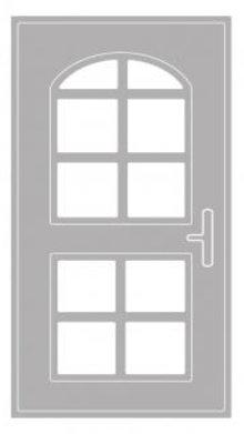 Spellbinders und Rayher Stansning skabelon: Dør med vinduesramme