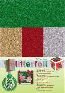 DESIGNER BLÖCKE  / DESIGNER PAPER Glitter foil