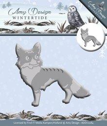 Amy Design Stansning og prægning skabelon: Wintertide, Fox