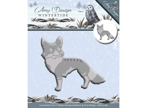 Amy Design Troquelado y estampado en relieve plantilla: wintertide, Fox