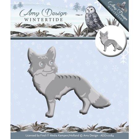 Amy Design Troquelado y estampado en relieve plantilla: wintertide, Fox