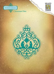 Nellie snellen Punching and embossing templates: Christmas crib