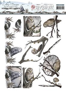 Amy Design Die cut sheets, Owl