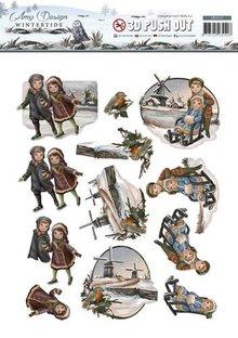 Amy Design Die cut ark, nostalgiske vinter motiver