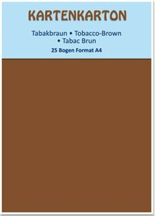 DESIGNER BLÖCKE  / DESIGNER PAPER Card stock A4 tobacco brown,