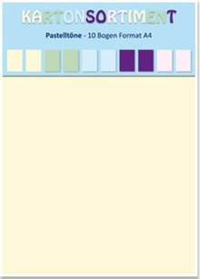 DESIGNER BLÖCKE  / DESIGNER PAPER Card stock A4, pastels