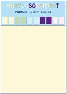 DESIGNER BLÖCKE  / DESIGNER PAPER Kartenkarton A4, Pastelltöne