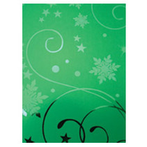 A4 effet carton, la verdure de Noël