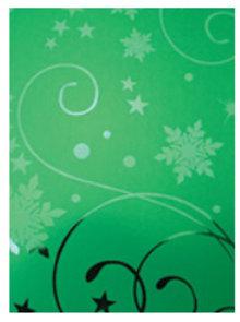 DESIGNER BLÖCKE  / DESIGNER PAPER A4 effetto cartone, verde Natale