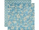 Graphic 45 Scrapbooking paper, Nutcracker Sweet Collection, Snowflake Waltz
