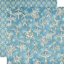 Scrapbooking papir, Nøddeknækkeren Søde Collection, Snowflake Waltz
