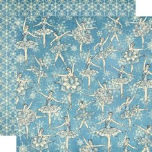 Graphic 45 carta scrapbooking, Schiaccianoci Sweet Collection, Fiocco di neve Waltz