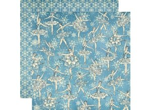 Graphic 45 Scrapbooking paper, Nutcracker Sweet Collection, Snowflake Waltz