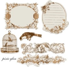 Prima Marketing und Petaloo Prima Reflections Antique Mirror