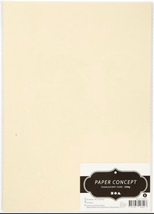 DESIGNER BLÖCKE  / DESIGNER PAPER Pearl cardboard A4, cream