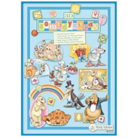 Bücher und CD / Magazines Marij Rahder 3D Decoupage Comedycards