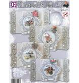BASTELSETS / CRAFT KITS: Komplet kort sæt for 4 julekort