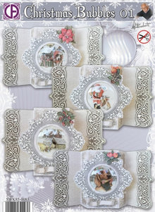 BASTELSETS / CRAFT KITS: Complete card set for 4 Christmas cards - only 1 in stock!
