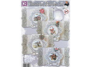 BASTELSETS / CRAFT KITS: Card Set completo per 4 cartoline di Natale