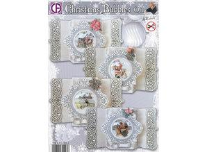 BASTELSETS / CRAFT KITS: set di carte completo per 4 cartoline di Natale