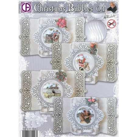 BASTELSETS / CRAFT KITS: Complete card set for 4 Christmas cards