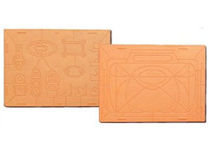 "REDDY Embossing Board ""Handbagz"" with instructions (front and back)"