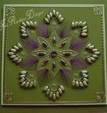 Nellie snellen Stanzschablone, Happy Stitches flower