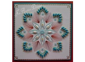 Nellie snellen Punching jig, Happy Stitches flower
