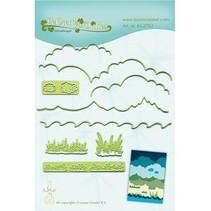 Stanzschablonen: Hintergrund für Landschaft
