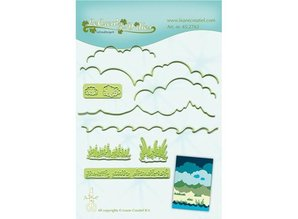 Leane Creatief - Lea'bilities Punching and embossing templates, background for landscape