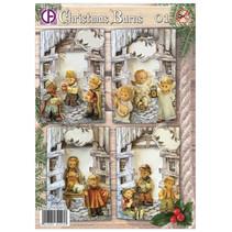 Komplettes Kartenset für 4 Weihnachtskarten