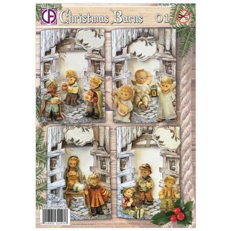 BASTELSETS / CRAFT KITS: Komplet Card Sæt til 4 Julekort