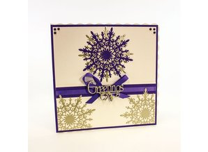 TONIC Tonic, punching and embossing template, snowflake