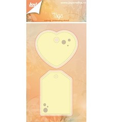 Joy!Crafts und JM Creation Punching and embossing templates: Labels, labels