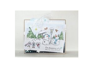 Marianne Design Transparent stamp: Snowmen